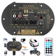 12V/24V/220V 80W High Power Bluetooth Car Subwoofer Hi-Fi Amplifier Board TF USB