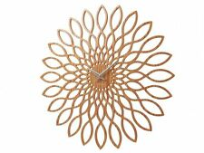 Karlsson Sunflower Light Wood Wall Clock Unique Modern Design Art Home Timepiece