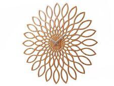 Karlsson Sunflower Wall Clock Wood Unique Modern Design Art Home Timepiece
