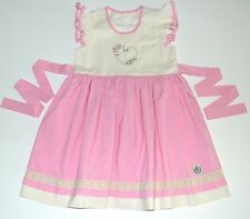 Bourgeois Bebe Girls Dress 8 10 Sweet Cheri Pink Ivory Lace Heart Boutique pr1