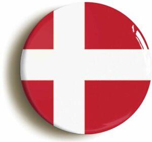DENMARK DANISH NATIONAL FLAG BADGE BUTTON PIN