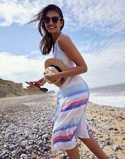 Joules Womens Chrissie Waisted Linen Dress - Multi Stripe