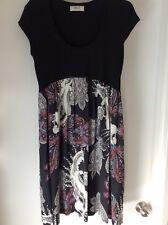Mela Purdie Black And Paisley Patterned Silk Dress