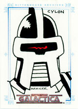 The Complete Battlestar Galactica Michael Kraiger Sketch a Fex Card - Cylon