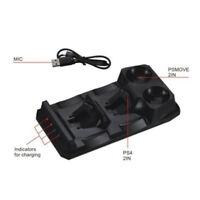 Eg _ Gn- 4 in 1 Schnell Laden Dual USB Ladegerät-station für Ps Move