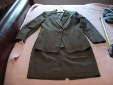 GEORGIOU STUDIO Olive Green Skirt Suit, Made in Italy, SZ - 8
