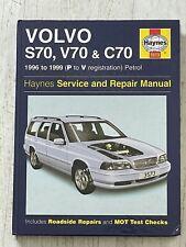 Haynes Manual 3573 - Volvo S70, V70 & C70, 1996 to 1999, petrol
