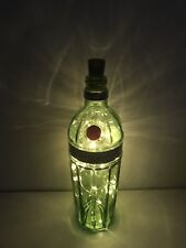 Tanqueray 10 Gin Glass Bottle 70cl, Upcycled Lamp/Light 20 Micro LED Lights