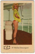 1960s Swedish Film Star Card Bilder A #37 sultry French Actress Mylene Demongeot