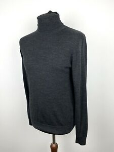 Uniqlo extra fine merino wool roll neck turtle neck knitted jumper size medium