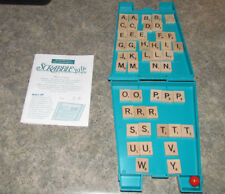 Scrabble Up Game Replacement Pieces - Red Marble, 47 Tiles, Instructions, Case