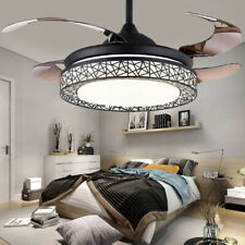 """New Listing42"""" Retractable Ceiling Fan Lamp Light Remote Control Dimmable Led Chandelier"""