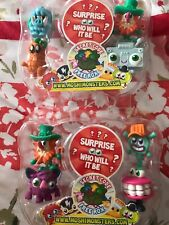 2x Moshi Monsters Figures Series 4. Not On Cards. 1 Surprise Missing. New