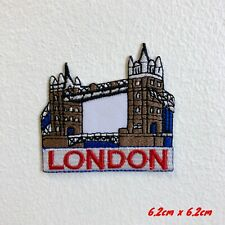Famous London Tower Bridge Embroidered Iron Sew on Patch #1827