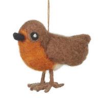 Fair Trade Robin Christmas Tree Decoration Festive Bird Ornaments