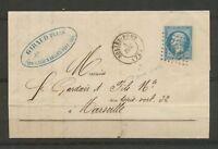 1866 Lettre N°22 Obl GC3426 CAD SOLLIES-PONT Sans Année VAR(78) Superbe X3279