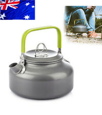 AU 0.8L Aluminium Camp Kettle Teapot Coffee Outdoor Camping Hiking BBQ Pot