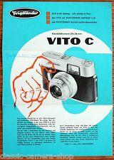 Kamera Prospektblatt VOIGTLÄNDER VITO C Broschüre von 1959 (X3066