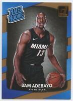 2017-18 Panini Donruss Rated Rookie Bam Adebayo #187 Rookie RC Miami Heat