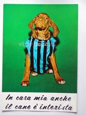 INTER CALCIO FOOTBALL MILANO cane dog vintage vecchia cartolina