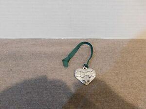 Pewter Heart Basket Tie On