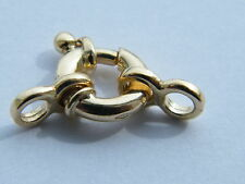 18ct Heavy Jumbo Bolt Ring Clasp Yellow Gold  8mm w/Double Rings 18K Spring Ring