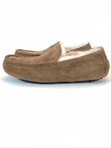 Mens UGG Ascot Slippers Slip On Loafer Chestnut Suede Size 9
