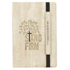 Stand Firm Flexcover Dotted Journal with Elastic Closure Luke 21:19