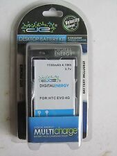 New DE Digital Energy Desktop Dock/Charger/Spare Battery Kit for HTC EVO 4G