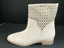 Michael Kors Size 7.5 M SUNNY Cement Suede Bootie Ankle Boots New Womens Shoes
