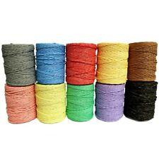 100 Metres DIY Roll of Paper Raffia Cord Craft Twine Rope String Craft Scrapbook