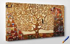 🎨 Quadro Klimt L'Albero della Vita Stampa Fine Art su Tela Vernice Pennellate