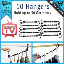 Wonder Hanger Max Closet Space Saving As Seen On TV Magic Hangers Rack Set of 10