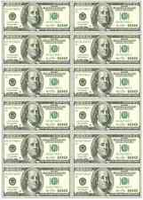 12 x $100 Dollar Bills Money Poker Casino Mens Edible Icing Birthday Cake Topper