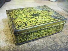 CROSS SWORDS PLUG CUT MIXTURE SMOKING TOBACCO TIN CAN J B PACE RICHMOND VA