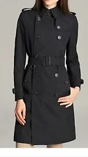 $1995 NEW Burberry London Kensington Women US 10 Navy Laced Trench Coat Jacket