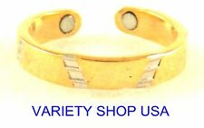 Royalty Alloy Magnetic Adjustable Band Two Tone Toe Ring Gold/Silver MTR-C