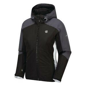 Dare2b Womens RADIATE BLACK Ski Jacket Ladies NEW SIZES 10 - 20 UK