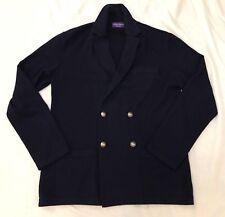 Ralph Lauren Purple Label Azul Marino Cachemira Chaqueta blazer abrigo deportivo de punto Talla L
