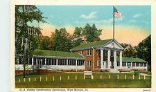 Louisiana, LA, West Monroe, G B Cooley Tuberculosis Sanitorium Linen Postcard