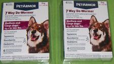 PetArmor 7 Way De-wormer 6 each Medium Large dogs 25.1 to 200 lbs ~ LOT OF 2