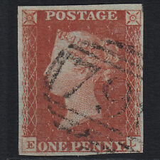 L36 GB QV 1841 1d RED-BROWN PLATE 61 SG8-B1(1) EL FU 4 MARGINS