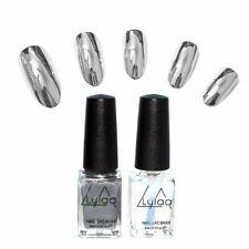 2pc/lot 6ml Mirror Effect Metal Nail Polish Varnish Set Cool E