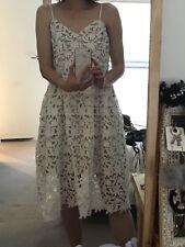 New W Tag White Pattern Dress Size 10