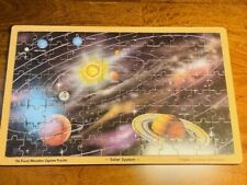 Puzzle Solar System Melissa & Doug Jigsaw Tray Wooden Ages 6-12 Easy 96 Pcs EUC