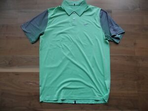 NWT Nike Golf Shirt Polo Tiger Woods Collection Green w/Gray Wailea GC Size M