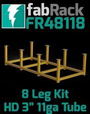 """CertiFlat FR48118 48""""x118"""" FabRack CNC Laser Tube 8 Leg Kit for FabBlock Tables"""