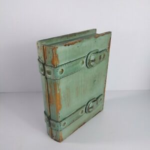 Secret Storage Book Box, Weathered style, Green