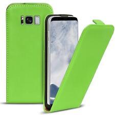 Flip Case Samsung Galaxy S8 Hülle Pu Leder Klapphülle Handy Tasche Cover Grün