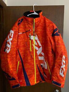 Orange FXR Boost insulated snowmobile jacket XL